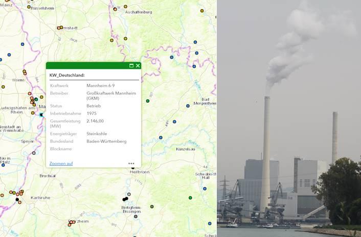 Kraftwerkskarte Deutschland